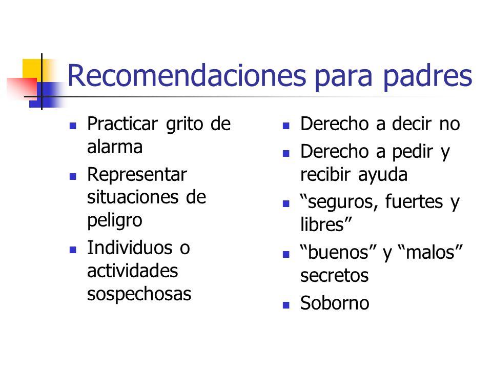 Recomendaciones para padres