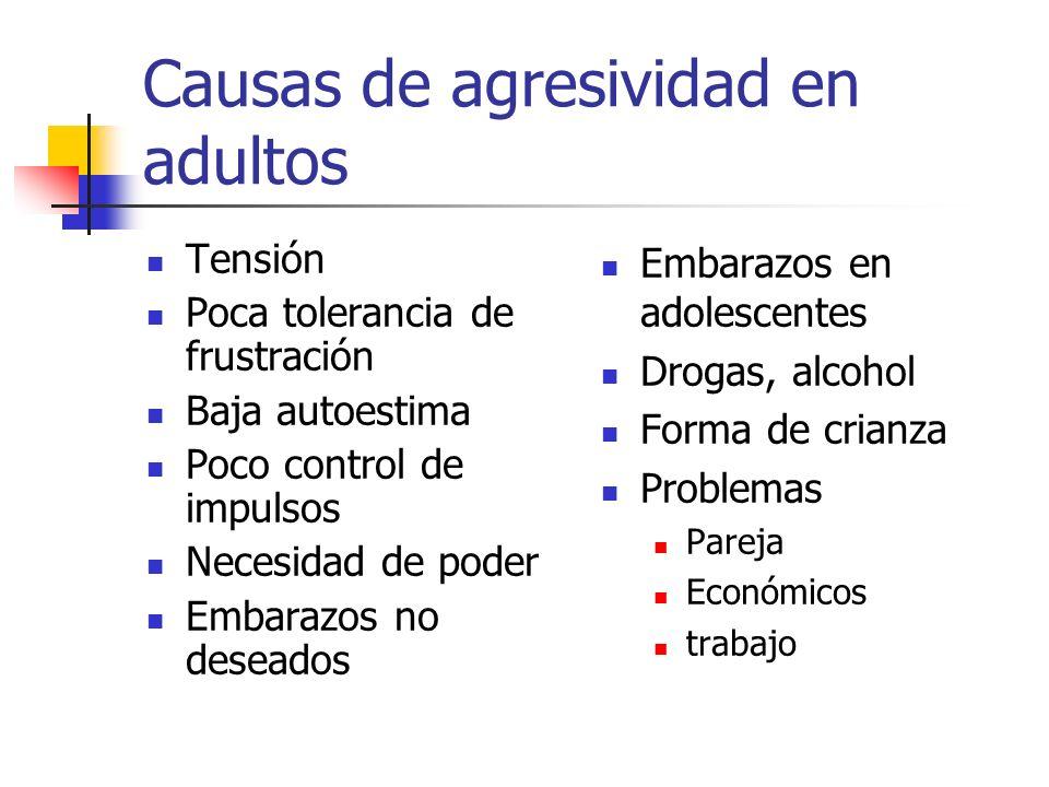 Causas de agresividad en adultos