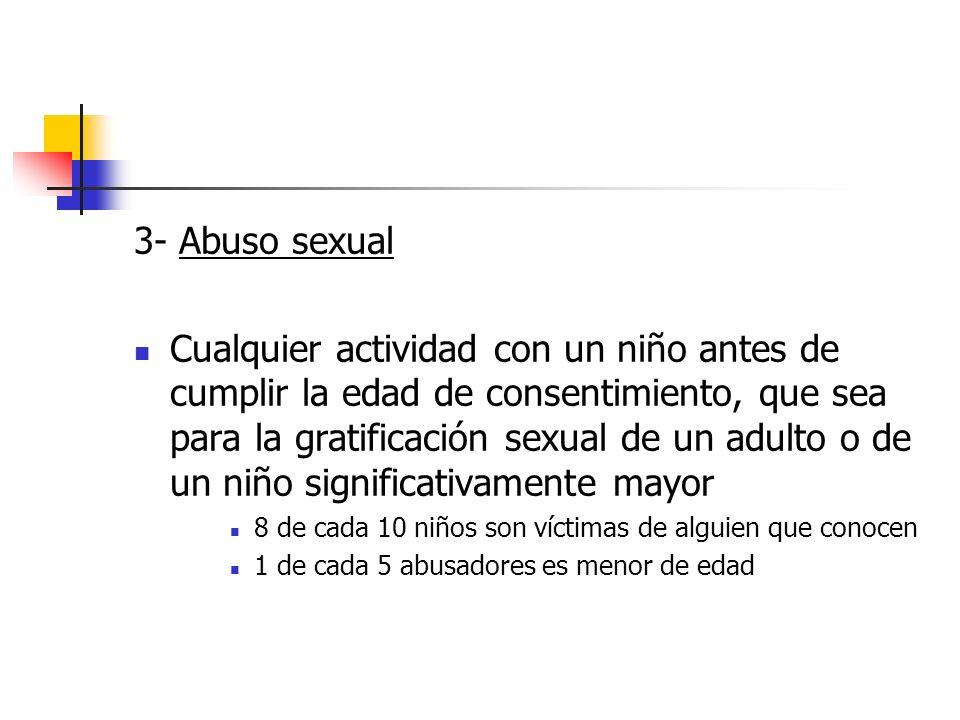 3- Abuso sexual