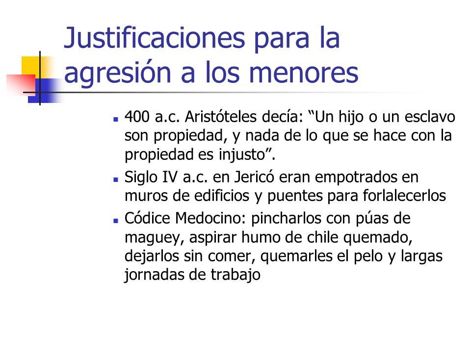 Justificaciones para la agresión a los menores