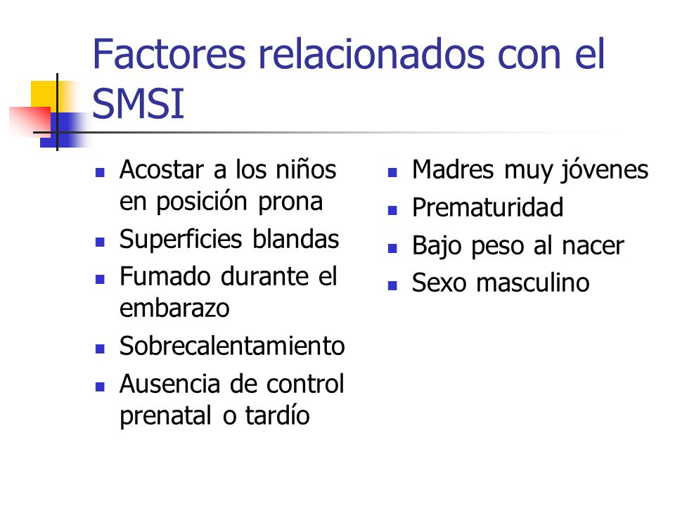 Factores relacionados con el SMSI
