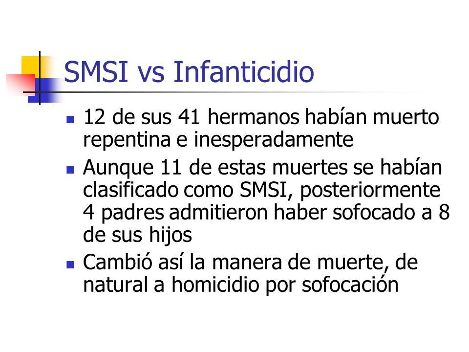 SMSI vs Infanticidio 12 de sus 41 hermanos habían muerto repentina e inesperadamente.