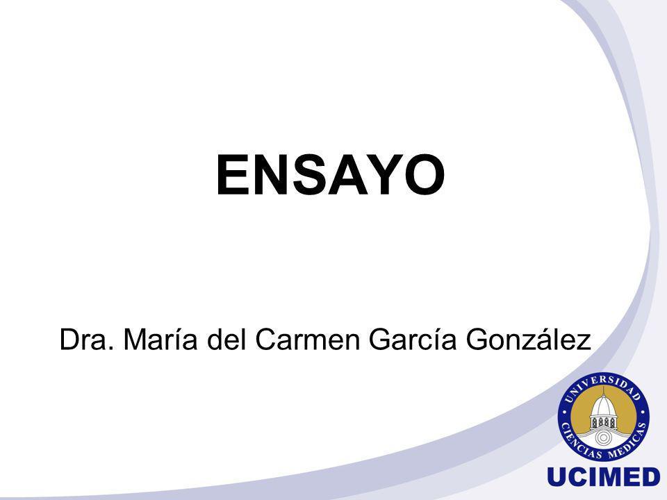 Dra. María del Carmen García González