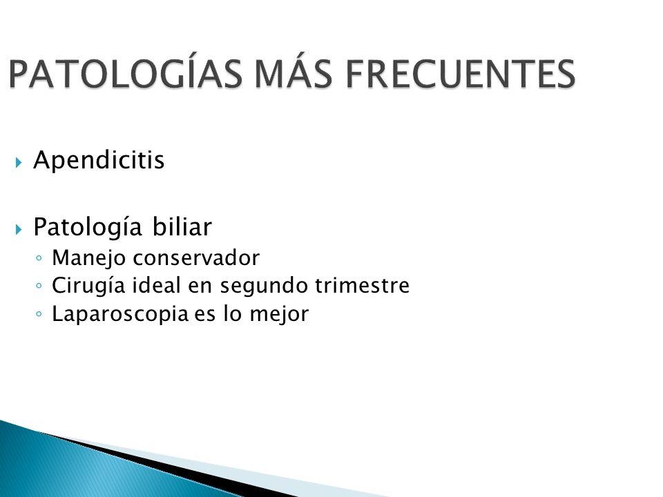 PATOLOGÍAS MÁS FRECUENTES