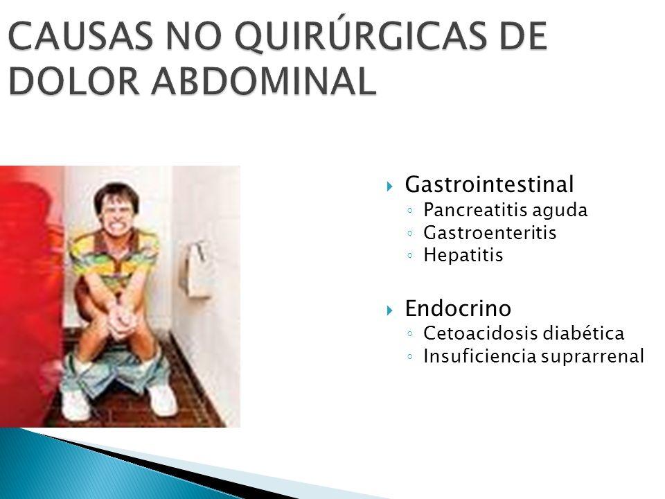 CAUSAS NO QUIRÚRGICAS DE DOLOR ABDOMINAL