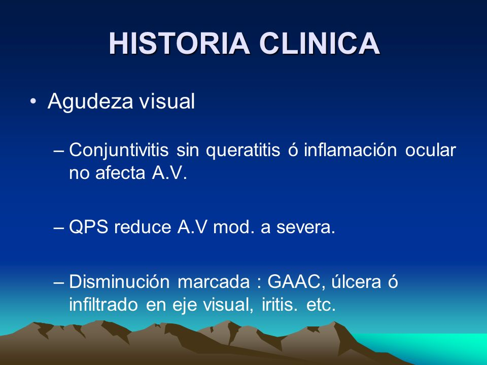 HISTORIA CLINICA Agudeza visual