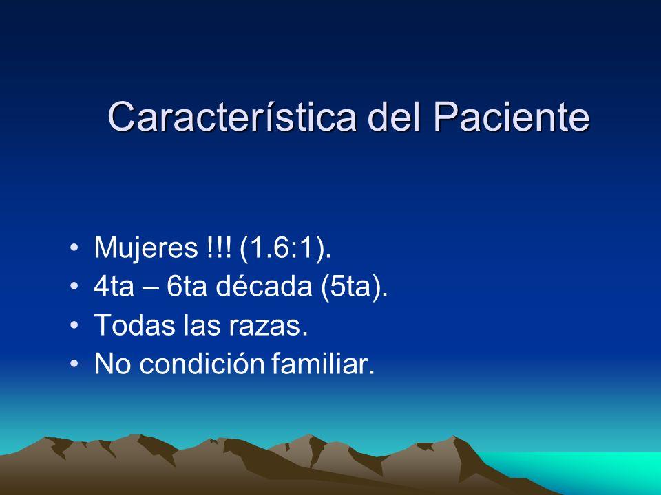 Característica del Paciente