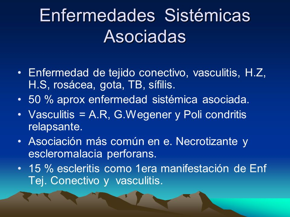 Enfermedades Sistémicas Asociadas