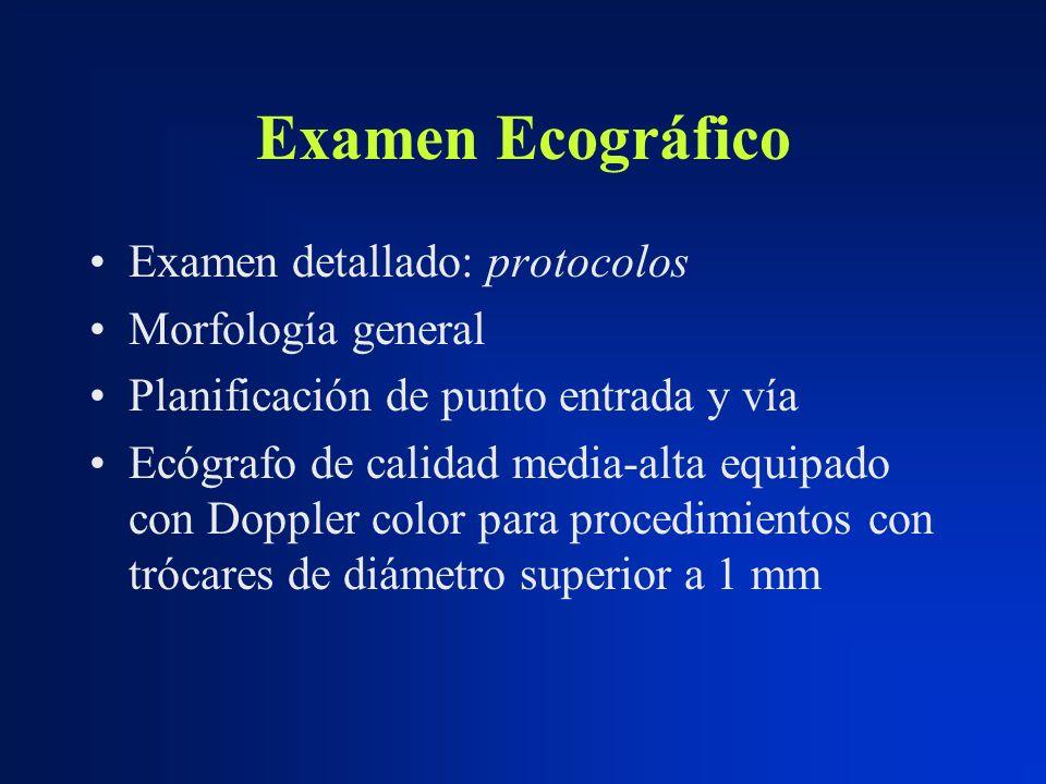 Examen Ecográfico Examen detallado: protocolos Morfología general