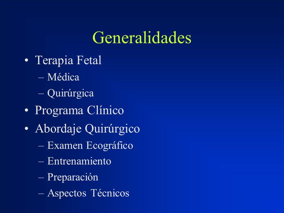 Generalidades Terapia Fetal Programa Clínico Abordaje Quirúrgico