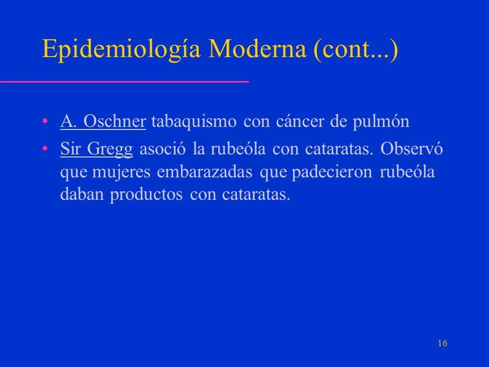 Epidemiología Moderna (cont...)