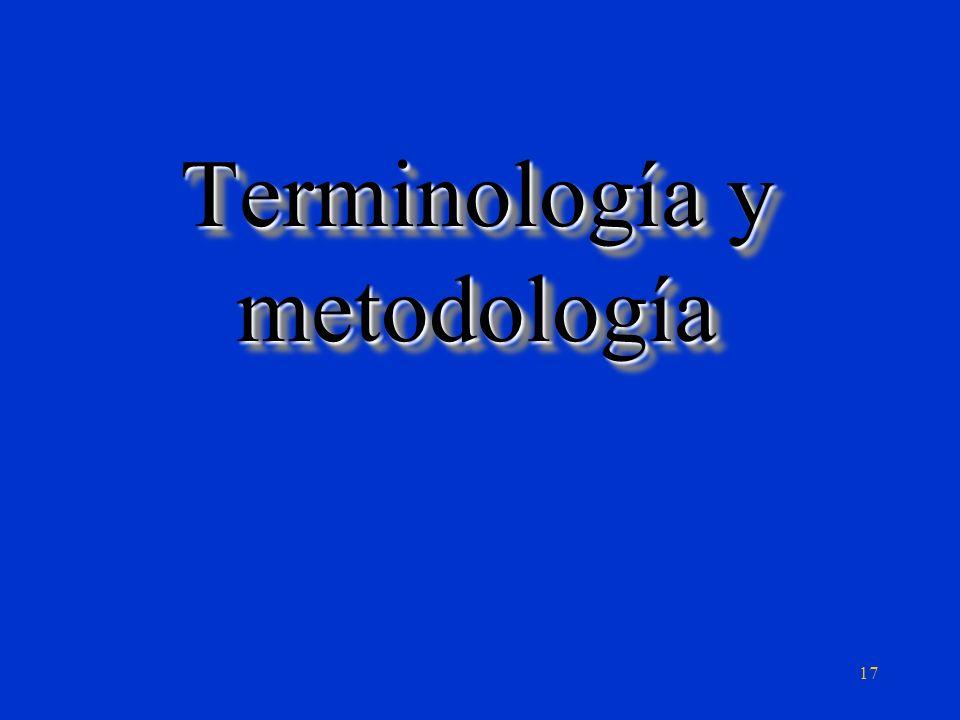 Terminología y metodología