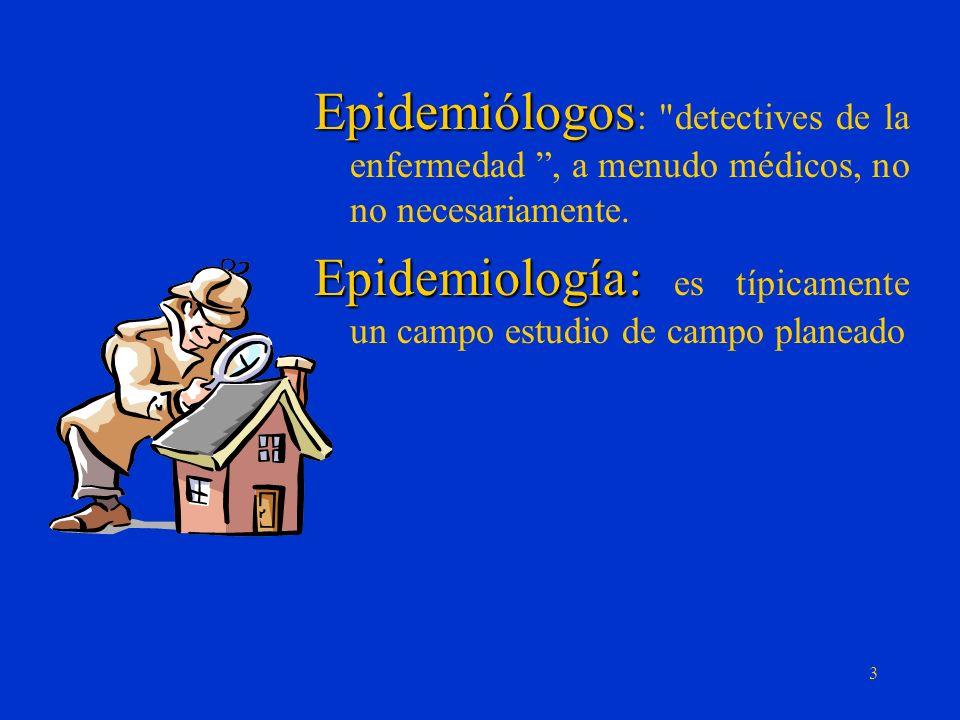 Epidemiólogos: detectives de la enfermedad , a menudo médicos, no no necesariamente.