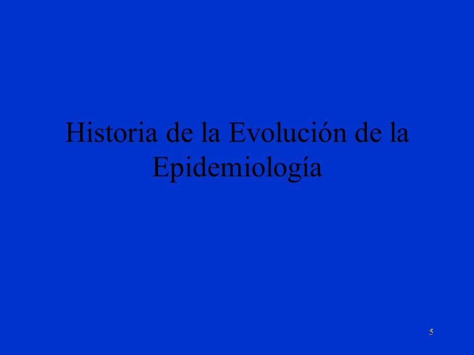 Historia de la Evolución de la Epidemiología