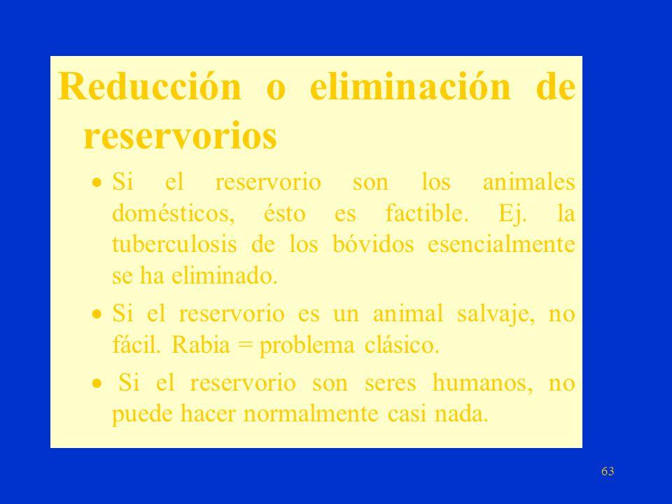 Reducción o eliminación de reservorios