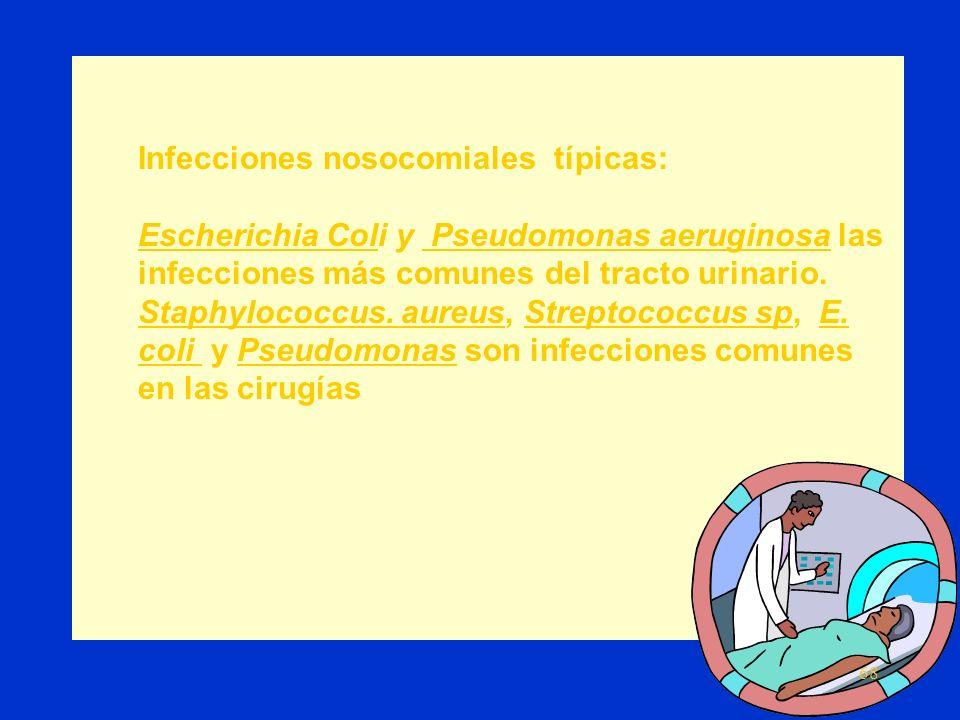 Causas de infecciones nosocomiales: