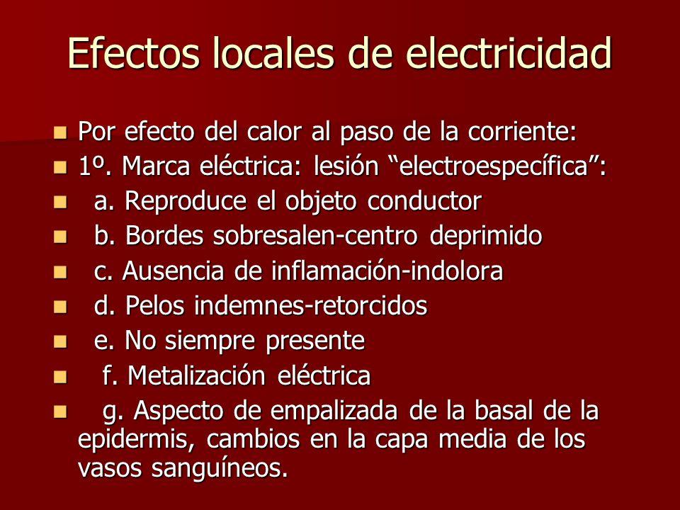 Efectos locales de electricidad