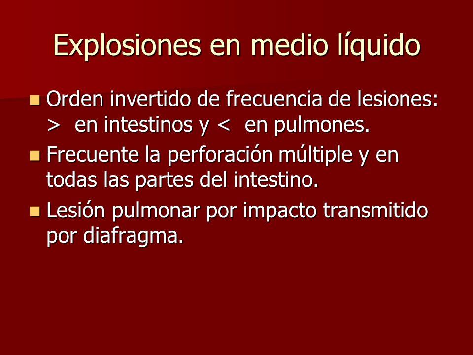 Explosiones en medio líquido