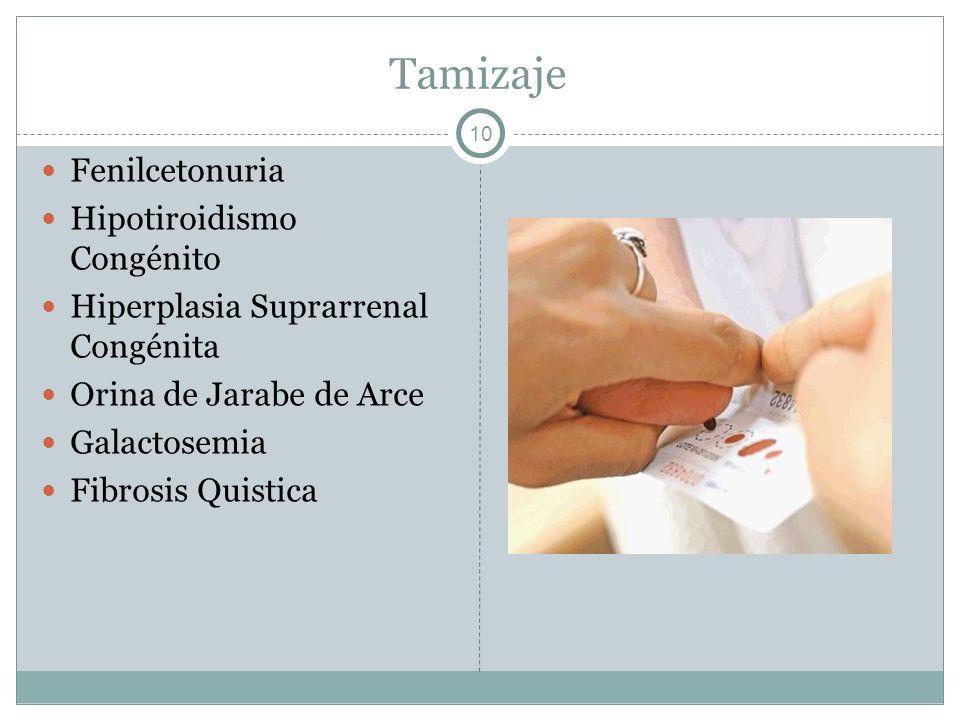Tamizaje Fenilcetonuria Hipotiroidismo Congénito