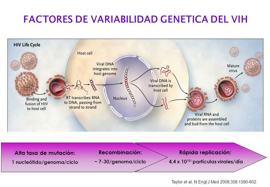 FACTORES DE VARIABILIDAD GENETICA DEL VIH