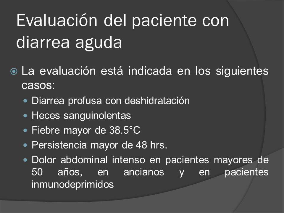 Evaluación del paciente con diarrea aguda
