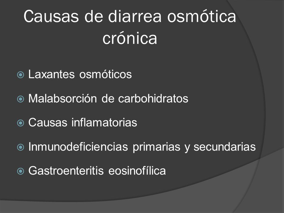 Causas de diarrea osmótica crónica