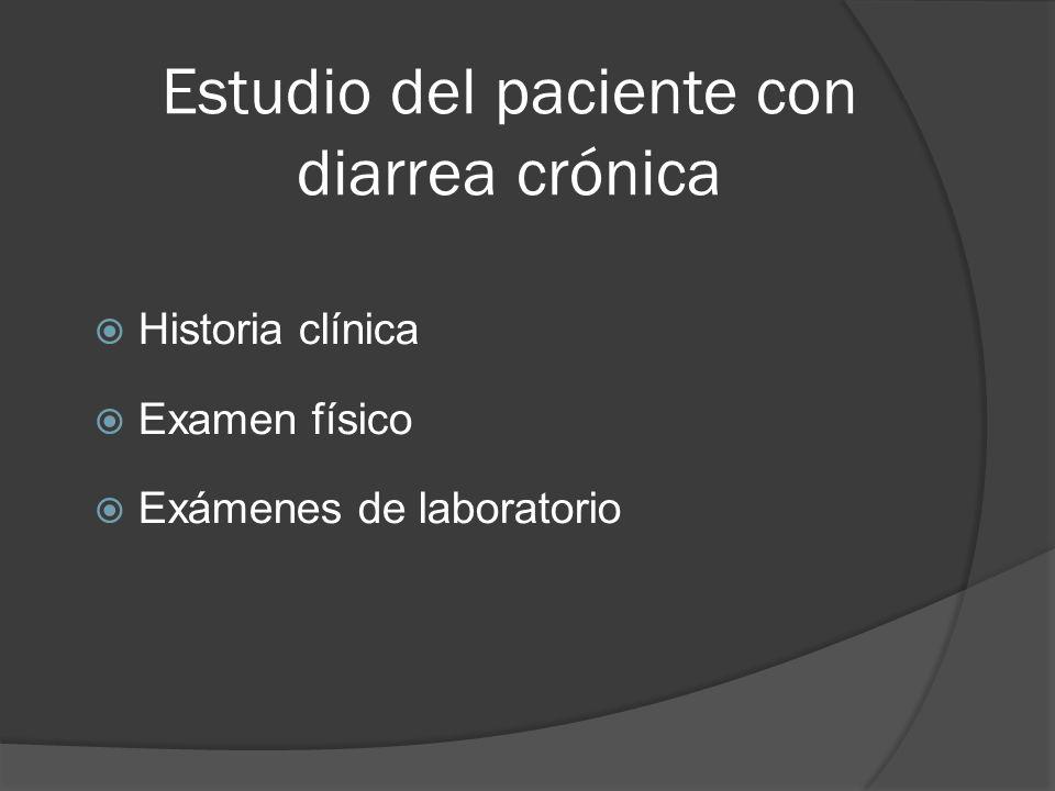 Estudio del paciente con diarrea crónica