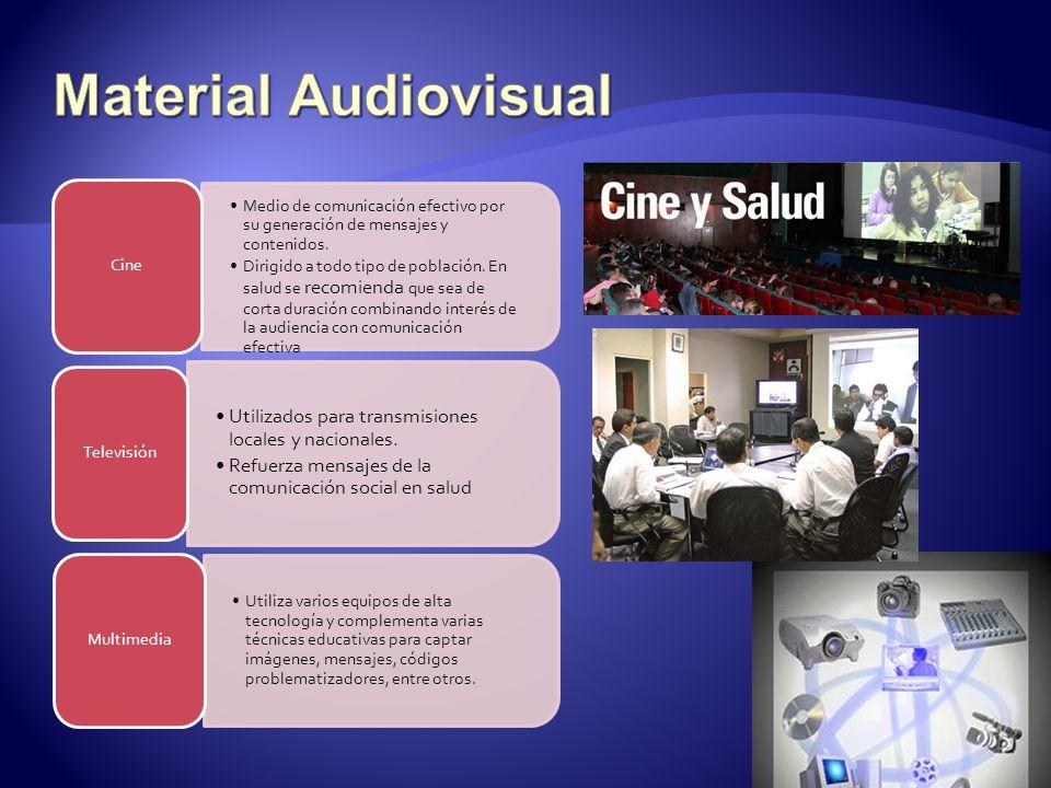 Material Audiovisual Cine. Medio de comunicación efectivo por su generación de mensajes y contenidos.