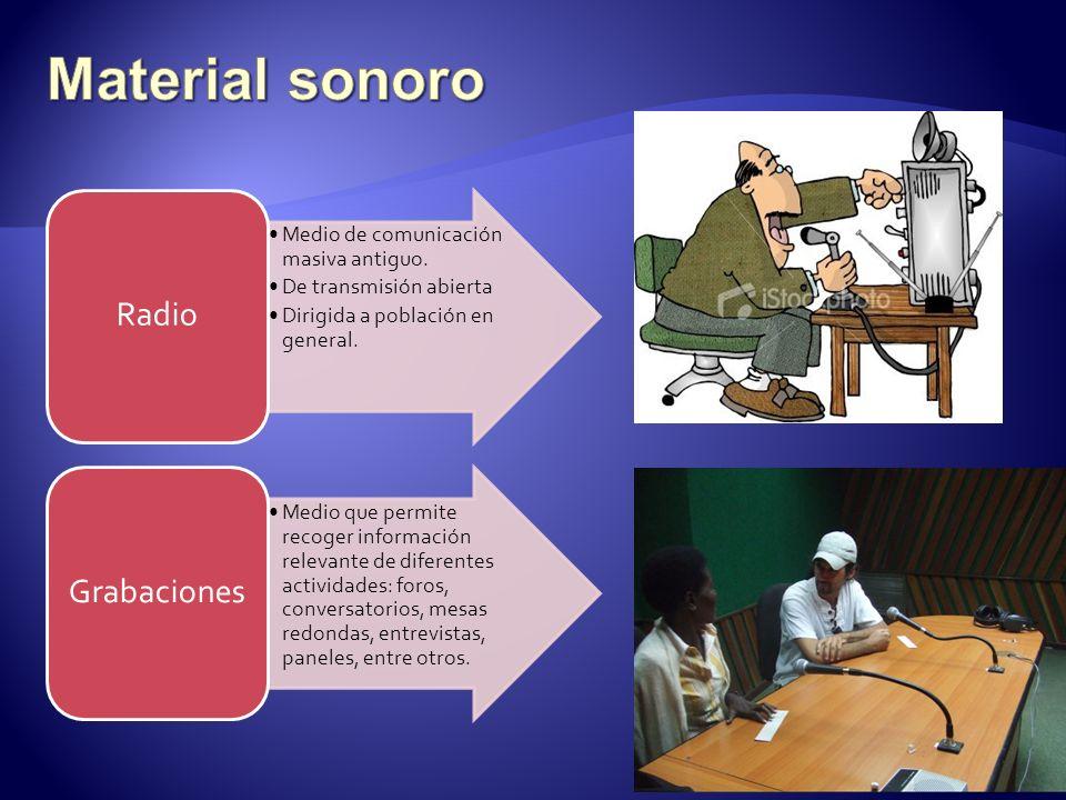 Material sonoro 9 Radio Medio de comunicación masiva antiguo.