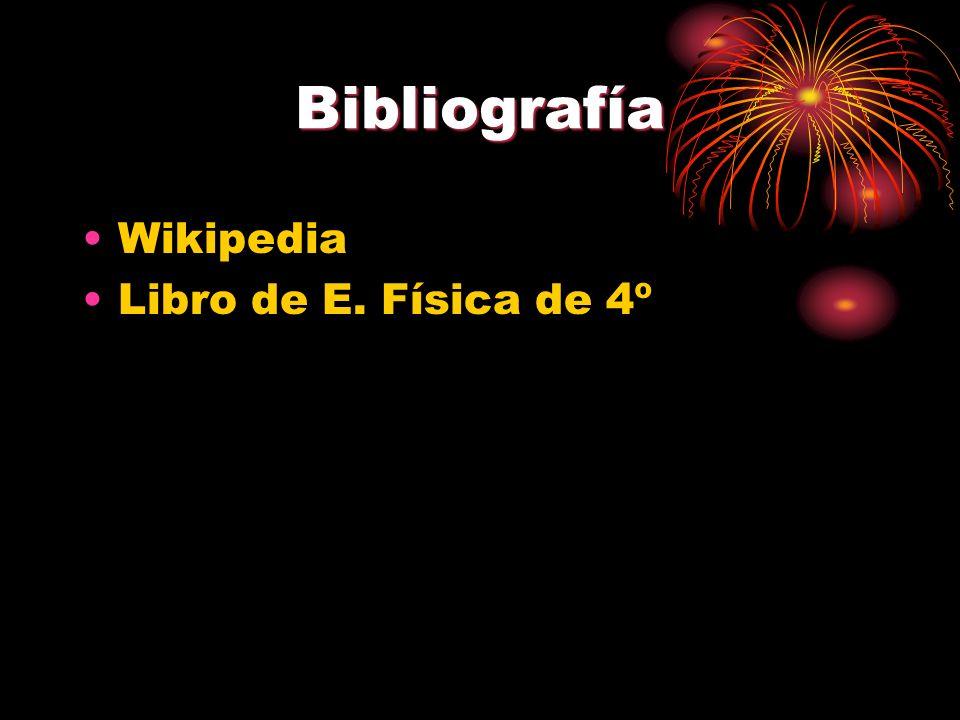 Bibliografía Wikipedia Libro de E. Física de 4º
