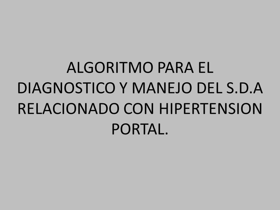 ALGORITMO PARA EL DIAGNOSTICO Y MANEJO DEL S. D