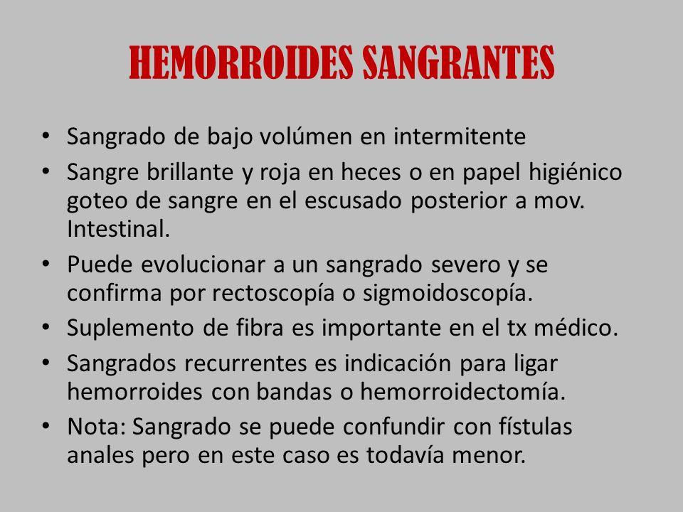 HEMORROIDES SANGRANTES