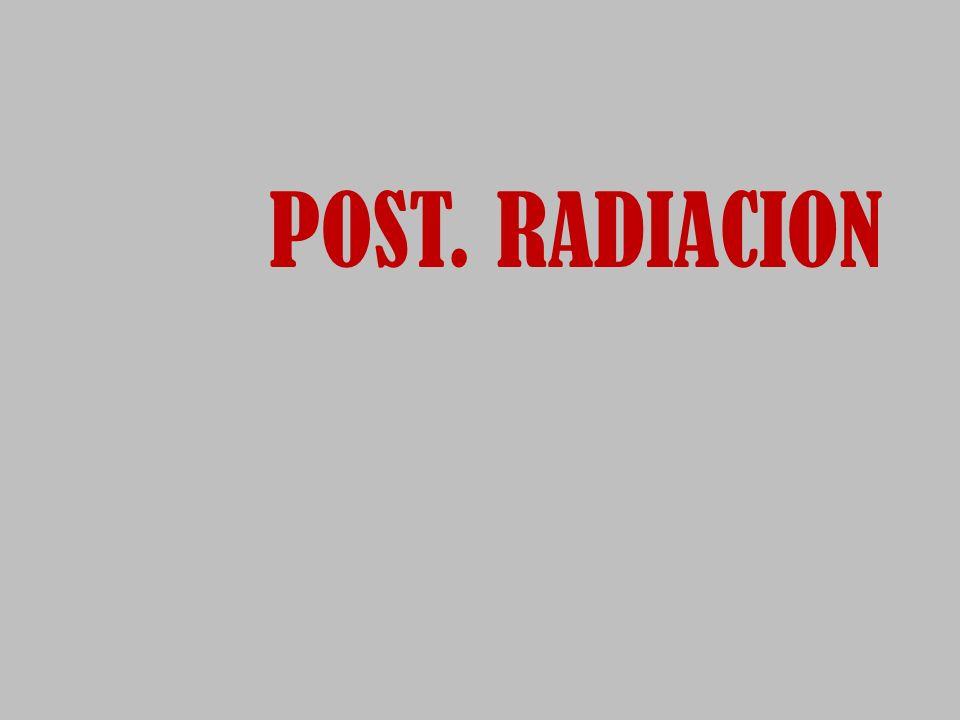 POST. RADIACION