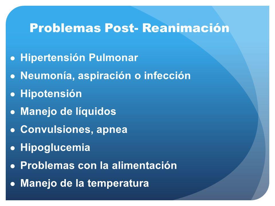 Problemas Post- Reanimación