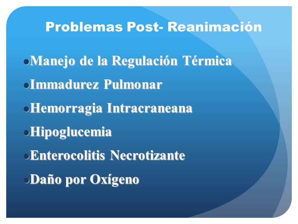 Manejo de la Regulación Térmica Immadurez Pulmonar