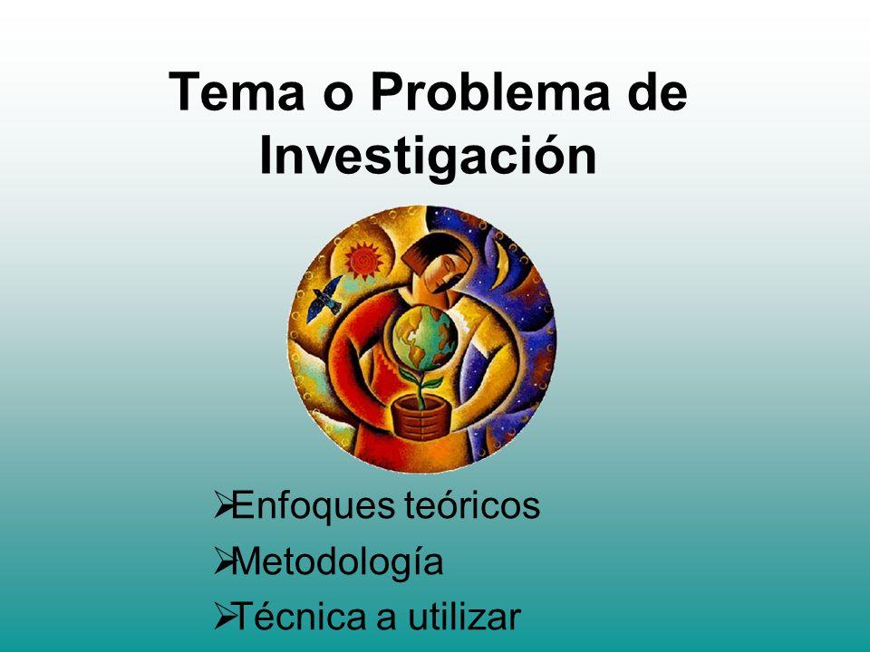 Tema o Problema de Investigación