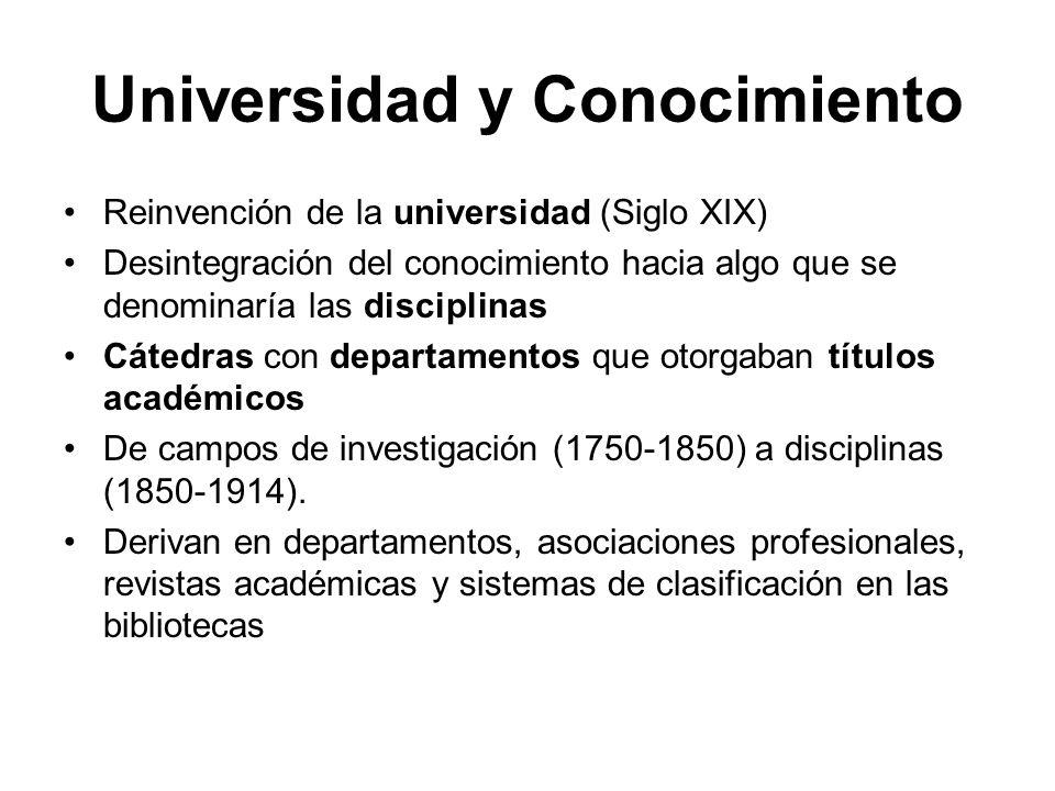 Universidad y Conocimiento