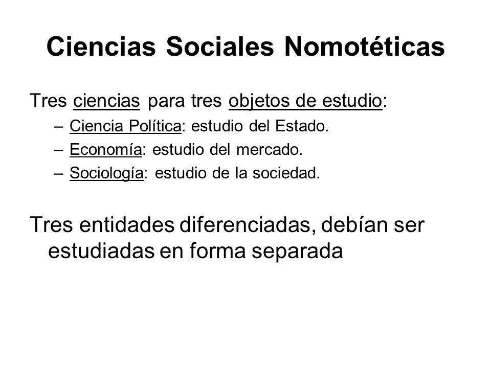 Ciencias Sociales Nomotéticas