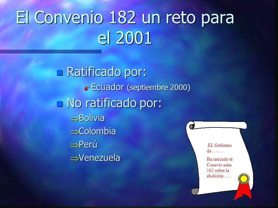 El Convenio 182 un reto para el 2001