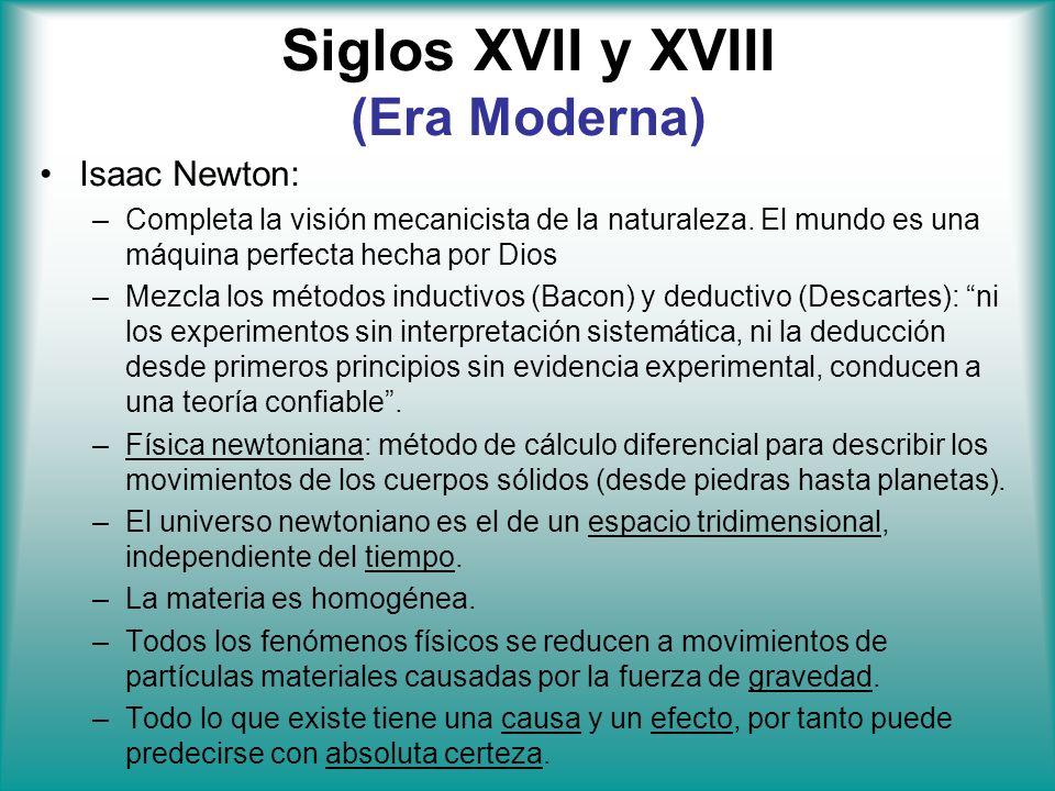 Siglos XVII y XVIII (Era Moderna)