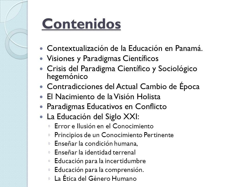 Contenidos Contextualización de la Educación en Panamá.