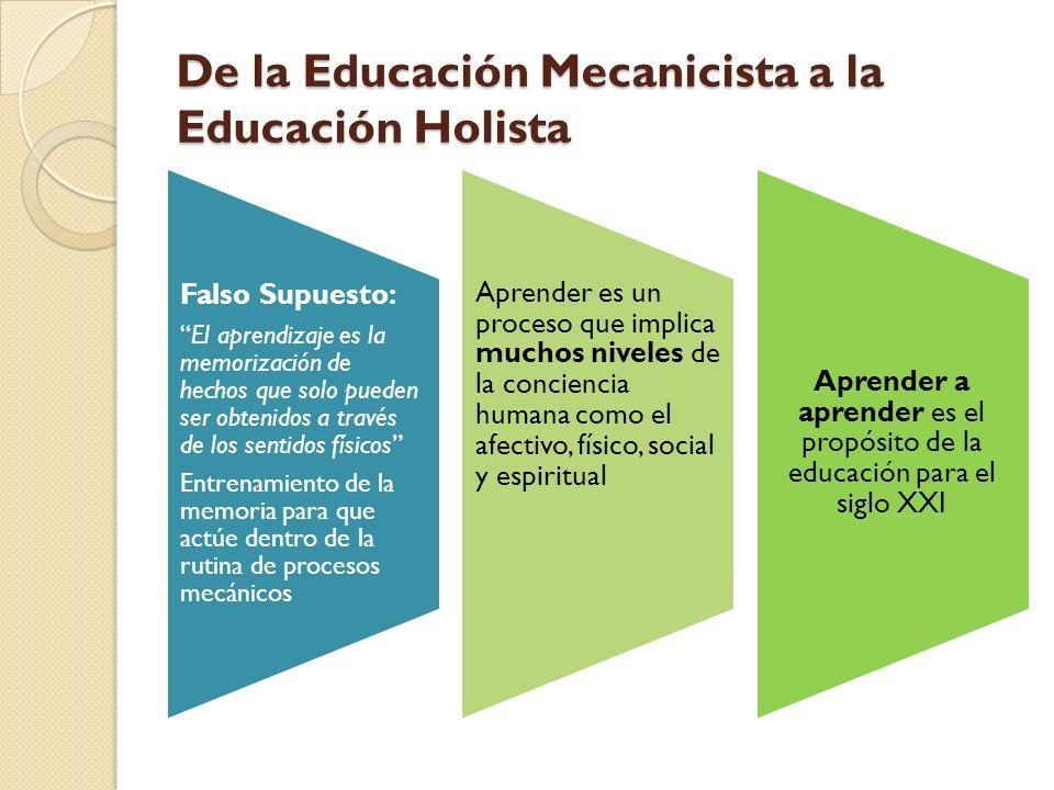 De la Educación Mecanicista a la Educación Holista