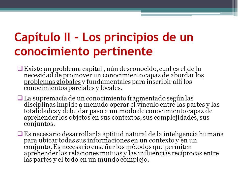 Capítulo II - Los principios de un conocimiento pertinente