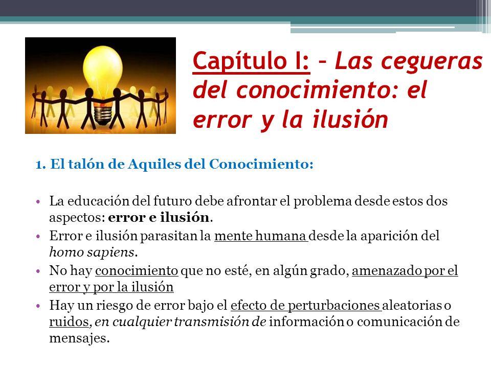 Capítulo I: – Las cegueras del conocimiento: el error y la ilusión