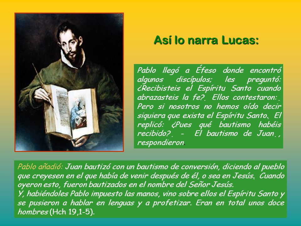 Así lo narra Lucas: