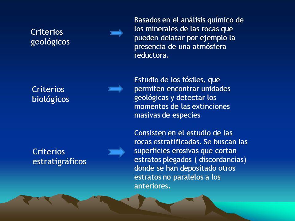 Criterios estratigráficos