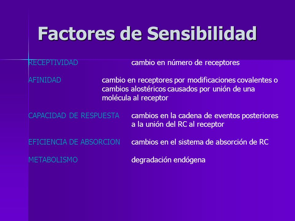Factores de Sensibilidad