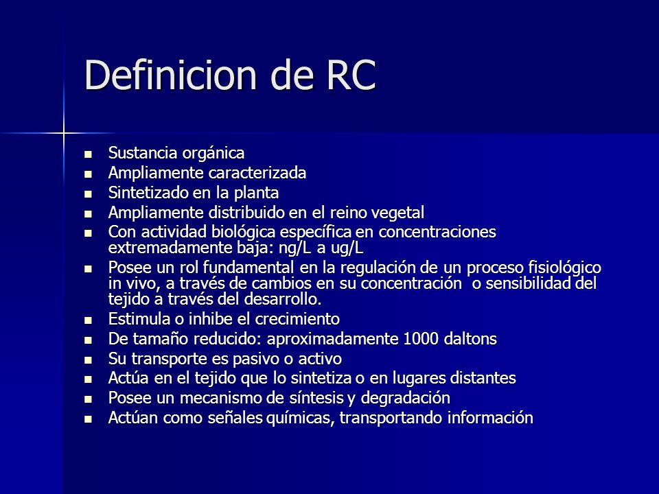 Definicion de RC Sustancia orgánica Ampliamente caracterizada
