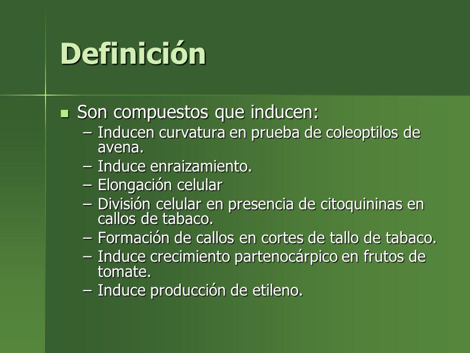 Definición Son compuestos que inducen: