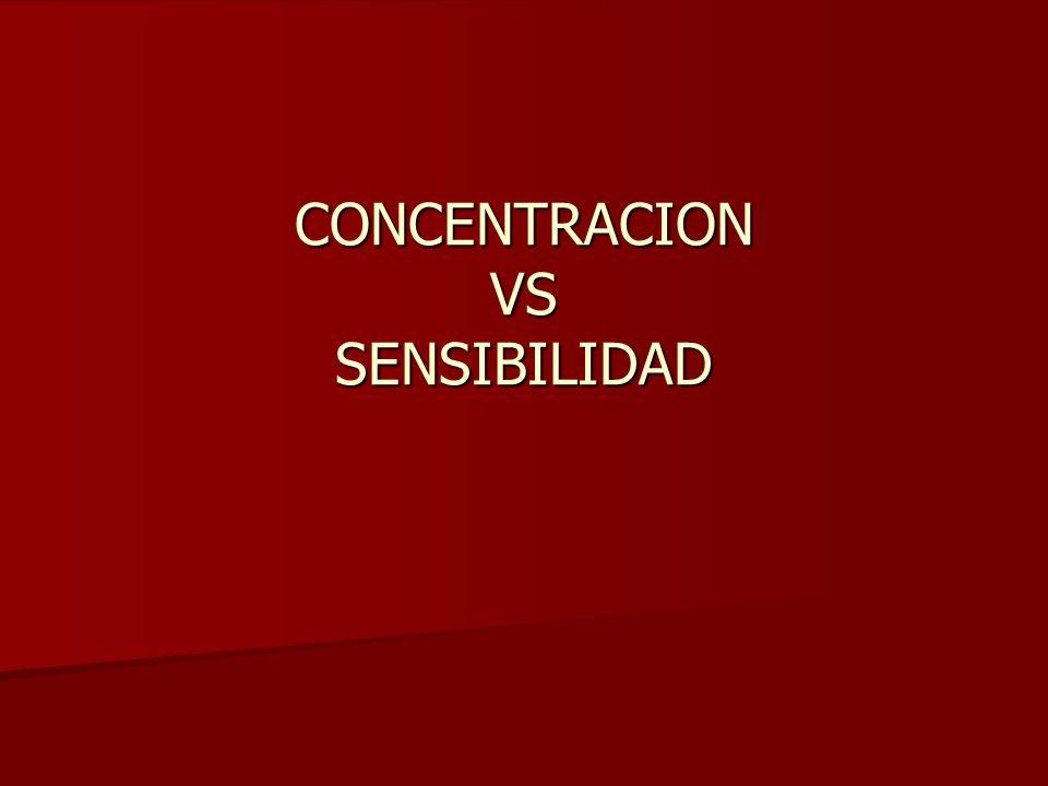 CONCENTRACION VS SENSIBILIDAD